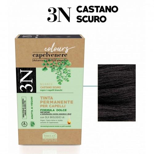 Μόνιμη Φυτική  βαφή μαλλιών Vegan με βιολογικά έλαια 3N Καστανό σκούρο