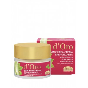 D' ORO energizing mask -cream re-densifying re-plumping elasticizing face, neck, decollete Elisir D'oro advance cosmetic treatments Βιολογικά Προϊόντα - hqbbs.gr