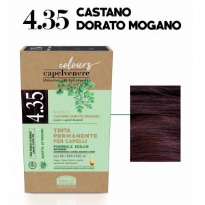 Μόνιμη Φυτική  βαφή μαλλιών Vegan με βιολογικά έλαια 4.35 Gold mahogany brown Βαφές Μαλλιών Βιολογικά Προϊόντα - hqbbs.gr