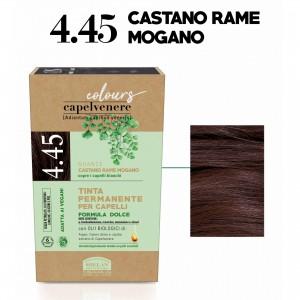 Μόνιμη Φυτική  βαφή μαλλιών vegan με βιολογικά έλαια 4.45 Καστανό χάλκινο ακαζού