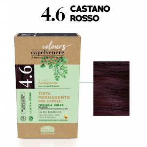 Μόνιμη Φυτική  βαφή μαλλιών Vegan με βιολογικά έλαια  4.6 Red brown