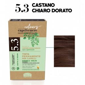 Μόνιμη Φυτική  βαφή μαλλιών Vegan με βιολογικά έλαια 5.3 Καστανό ανοικτό μελί Βαφές Μαλλιών Βιολογικά Προϊόντα - hqbbs.gr