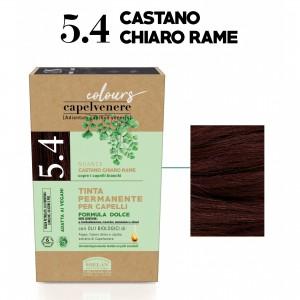Μόνιμη Φυτική  βαφή μαλλιών Vegan με βιολογικά έλαια 5.4 copper light brown