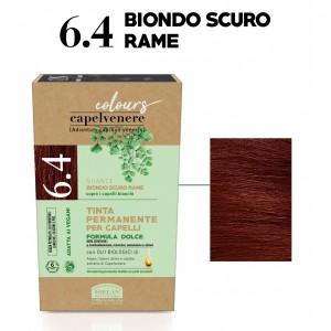 Μόνιμη Φυτική  βαφή μαλλιών Vegan με βιολογικά έλαια 6.4 Copper dark blonde