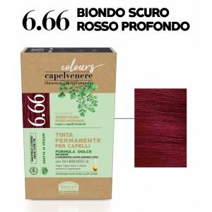 Μόνιμη Φυτική  βαφή μαλλιών Vegan με βιολογικά έλαια 6.666 Deep red dark blonde