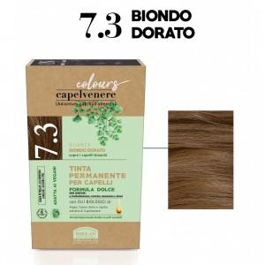 Μόνιμη Φυτική  βαφή μαλλιών Vegan με βιολογικά έλαια 7.3 Ξανθό χρυσαφί