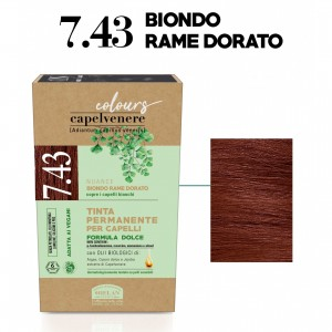 Μόνιμη Φυτική  βαφή μαλλιών Vegan με βιολογικά έλαια  7.43 Golden copper blonde