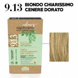 Μόνιμη Φυτική  βαφή μαλλιών Vegan με βιολογικά έλαια 9.13  ξανθό πολύ ανοικτό Βαφές Μαλλιών Βιολογικά Προϊόντα - hqbbs.gr