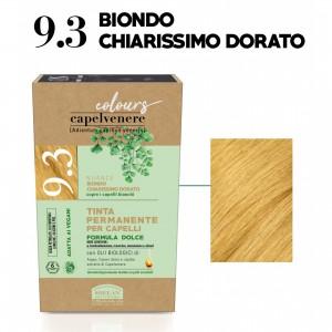 Μόνιμη Φυτική  βαφή μαλλιών Vegan με βιολογικά έλαια 9.3  Ξανθό πολύ ανοικτό χρυσαφί