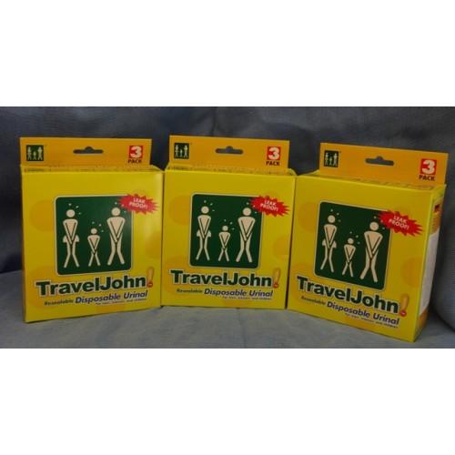 2+1 ΚΟΥΤΙ ΔΩΡΟ Travel John-My WC το προσωπικό σας WC  3 τμχ
