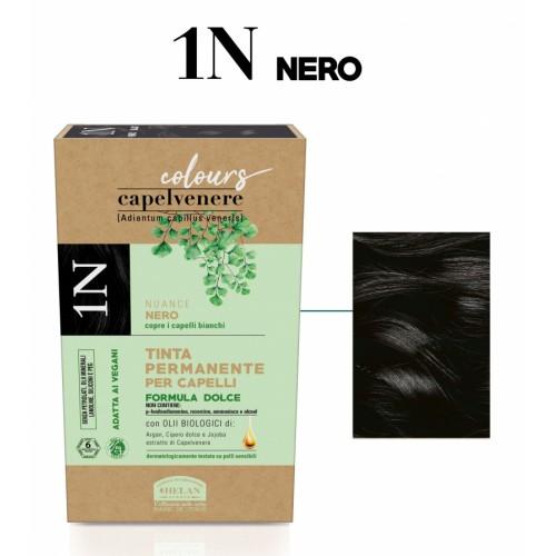 Μόνιμη Φυτική  βαφή μαλλιών Vegan με βιολογικά έλαια 1N Μαύρο